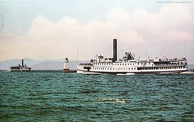 Steamer and Lighthouse